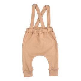 Suspender pants - Rib Camel