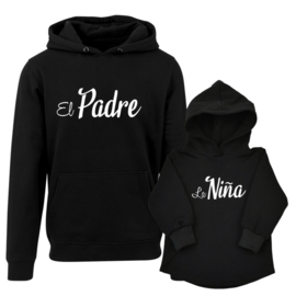 Twinning hoodies  ' El Padre La Nina'