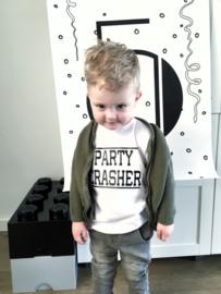 Kinderverjaardag shirt 'Party crasher'