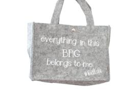 Vilten tas mini  'everything in this bag belongs to me'