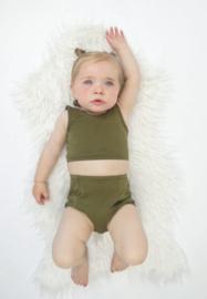 Baby Highwaist Bikini  Set| Khaki Green