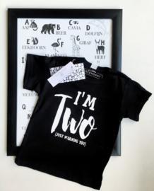 Verjaardag shirt 2 jaar- I'm TWO just warning you.