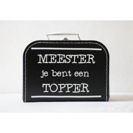koffertje als cadeau voor een juf of meester.  ontwerp 3