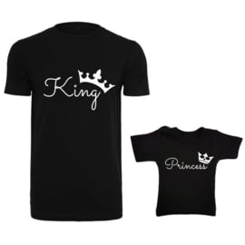 Twinning set '#King  #Princess'
