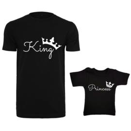 Twinning set '#King  #Princess'