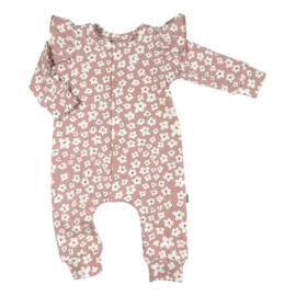 NEWBORN - Boxpakje - Baby Ruffle Jumpsuit Mini Flower Pink
