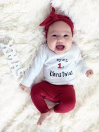Shirt My Very 1st Christmas | Legging Wine Red