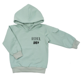 Kinder hoodie met klepzakje - Rebel Boy (7 kleuren)
