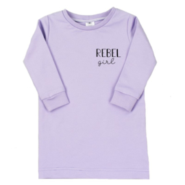 T-shirt dress Rebel Girl (7 kleuren)