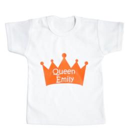 Koningsdag shirt kind - Queen (jouw naam)