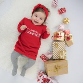 Kerst Jurkje - Baggy Sweaterdress |  I'm Santa's Favourite| 7 Kleuren
