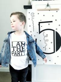 Kinderverjaardag shirt 'I am the party'