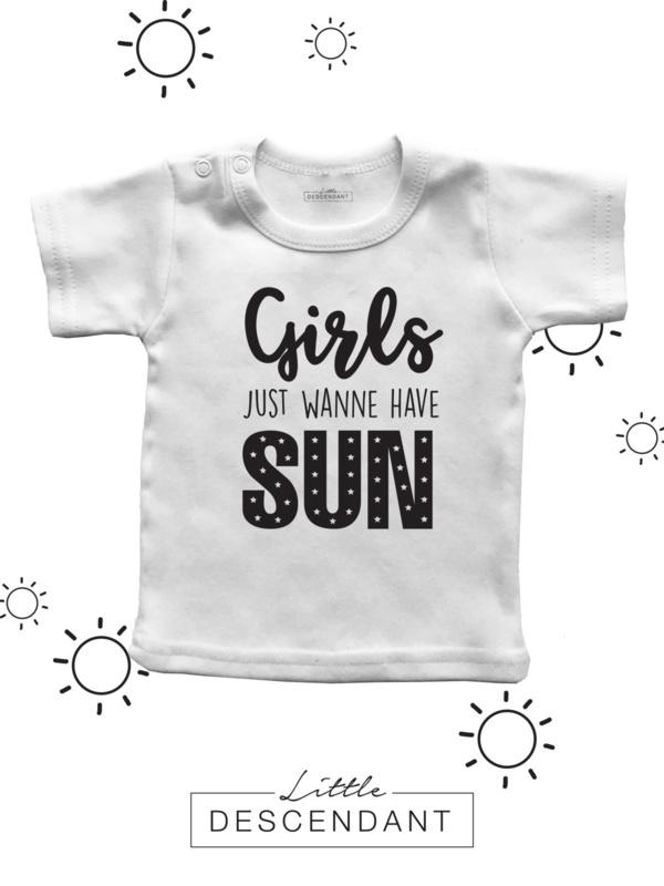 Shirt 'Girls just wanne have sun'