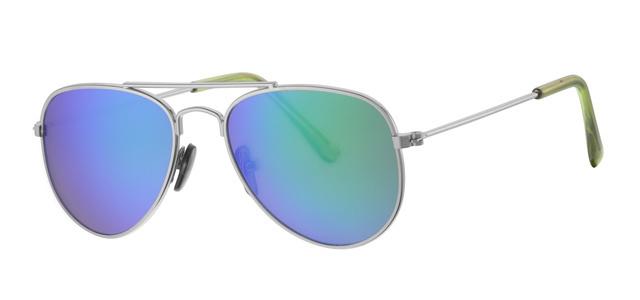 Kinder zonnebril - 0 tot 4 jaar D&D - Sophisticated -Silver/green