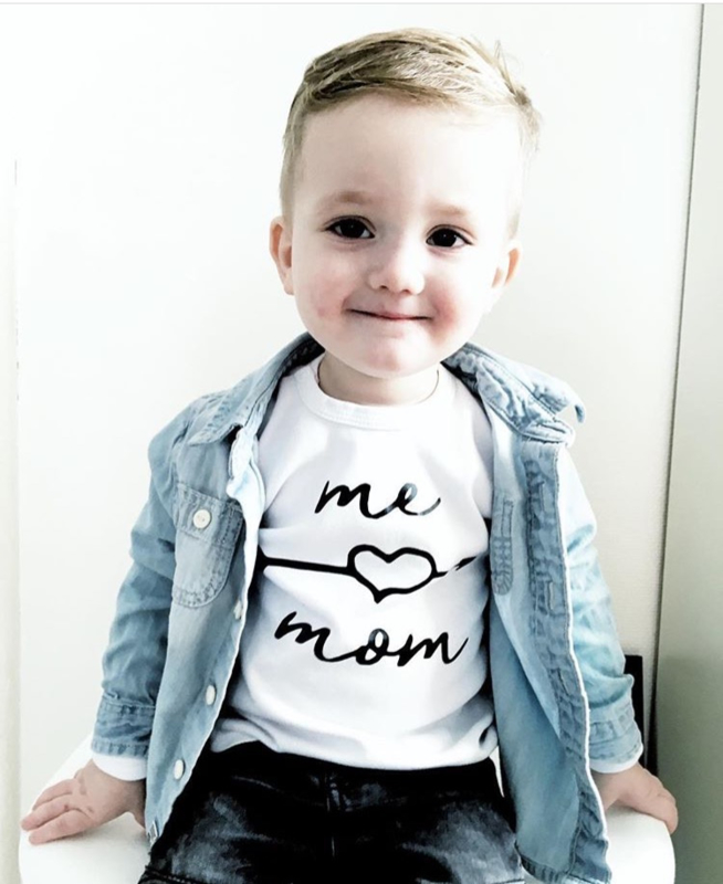Shirt 'Me love mom'