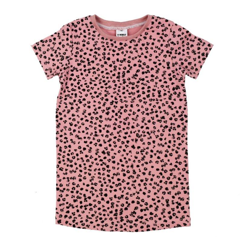 T-shirt Dress 'Leopard Rose'