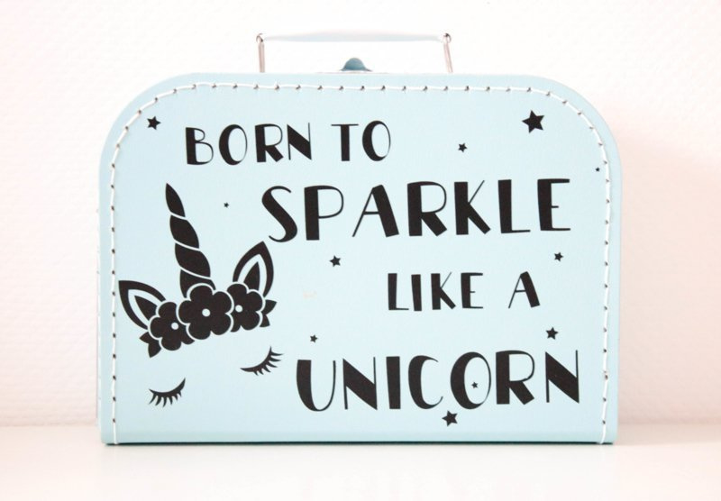 Kinderkoffertje 'born to sparkle'