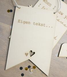 Eigen tekst op hout - voor jouw Valentijn