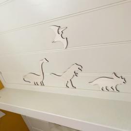 Dinosaurus houten muurstickers