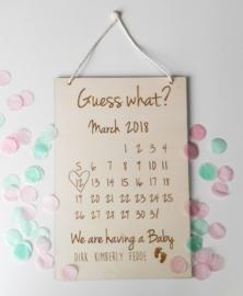 Zwangerschapsaankondiging Kalender - GROOT