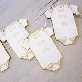 Raad de naam en datum slinger - Babyshower