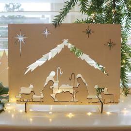 Kerststal van hout