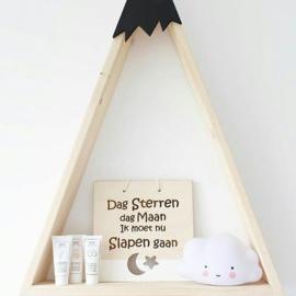 Houten hanger ´Dag sterren Dag Maan´