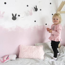 Bunny slinger - Roze/donkergrijs/wit