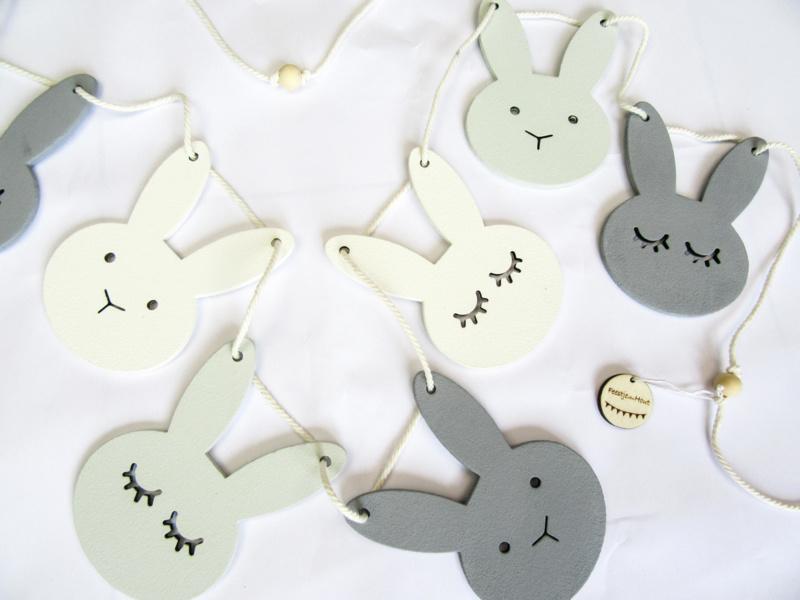 Bunny slinger - Mintgroen/Wit/Grijs