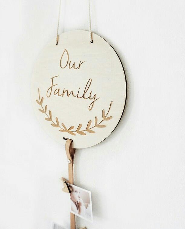 Foto Hanger Our Family gepersonaliseerd