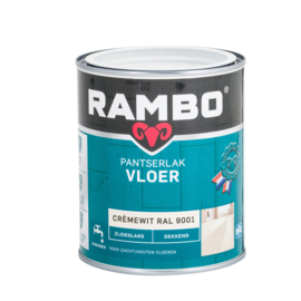Rambo Panterslak Vloer Zijdeglans Dekkend Cremewit ral 9001 2.5 liter