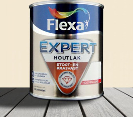Flexa Expert Houtlak Binnen Hoogglans Ral 9001 Crème 750 ml