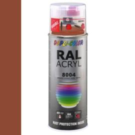 Dupli-Color Ral Acryl Ral 8004 Koper bruin Hoogglans 400 ml