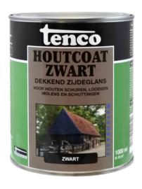 Tenco Houtcoat Zwart Waterbasis Zijdeglans 1 liter