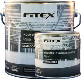 Fitex Industriële vloerverf 2C Aqua 2,5 liter
