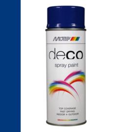 Motip Deco Paint Ral 5002 Ultramarijn Blauw Hoogglans 400 ml
