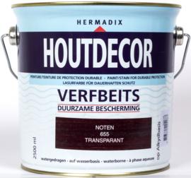 Hermadix Houtdecor Verfbeits Transparant Noten 655 2,5 liter