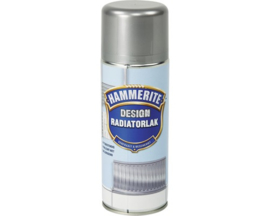 Hammerite Design Radiatorlak Silver Metallic Spuitbus 400 ml