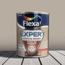 Flexa Expert Houtlak Binnen Hoogglans Beigebruin 750 ml
