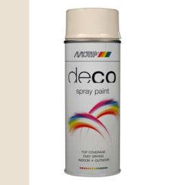Motip Deco Paint Ral 9001 Crème Wit Hoogglans 400 ml
