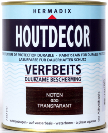 Hermadix Houtdecor Verfbeits Transparant Noten 655 750 ml