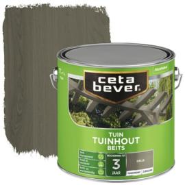 CetaBever Tuinhoutbeits Grijs 2,5 liter