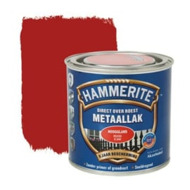 Hammerite Metaallak Rood S040 Hoogglans 250 ml
