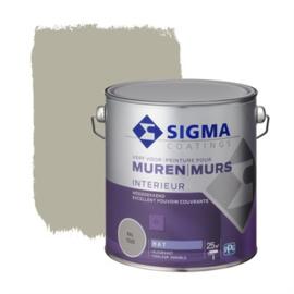 Sigma Interieur Muurverf Hoogdekkend Ral 7032 Mat 2,5 liter