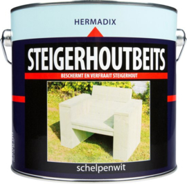 Hermadix Steigerhoutbeits Schelpenwit 2,5 liter