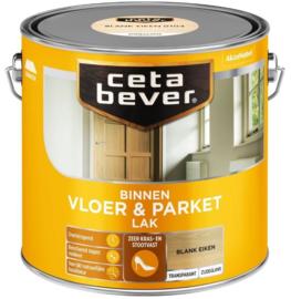 CetaBever Vloer en Parketlak Zijdeglans Blank Eiken 2.5 liter