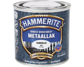 Hammerite Metaallak Wit H110 Hamerslag 250 ml