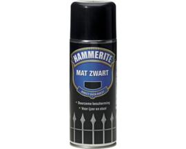Hammerite Mat Zwart Spuitbus 400 ml