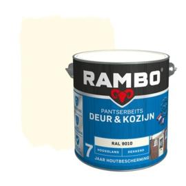 Rambo Pantserbeits Deur en Kozijn Hoogglans Ral 9010 2,5 liter