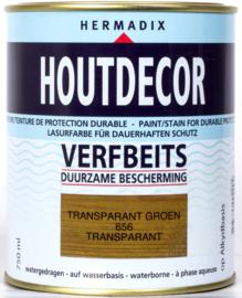 Hermadix Houtdecor Verfbeits Transparant Groen 656 750 ml